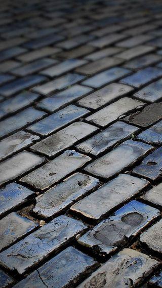 Обои на телефон плитка, кирпичи, улица, brick street