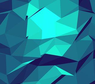 Обои на телефон многоугольник, синие, poligon 4