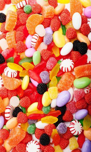Обои на телефон сладости, красочные, дети, конфеты