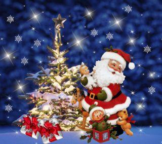 Обои на телефон счастливое, санта, рождество, зима, 1440x1280px