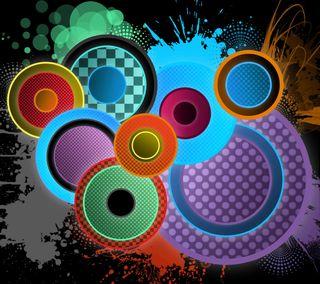 Обои на телефон формы, мотивация, круги, абстрактные