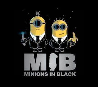 Обои на телефон черные, миньоны, minion in black, gfd