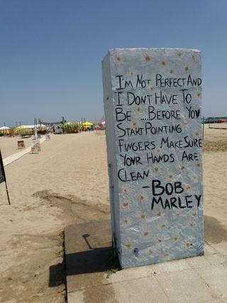 Обои на телефон сообщение, цитата, пляж, дорога, греция, высказывания, боб, paralia, olympic beach, marley