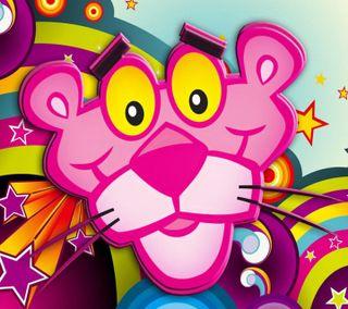 Обои на телефон пантера, розовые, мультфильмы, забавные