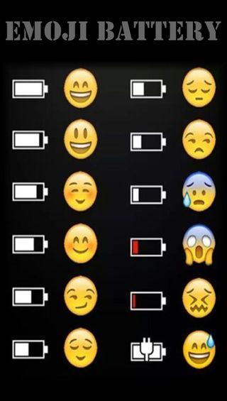 Обои на телефон эмоджи, батарея, emoji battery