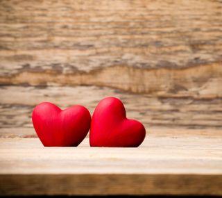 Обои на телефон настроение, фон, сердце, любовь, красые, twin heart, love