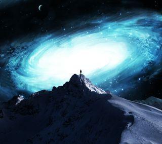 Обои на телефон фантазия, самсунг, ночь, небо, звезда, горы, галактика, боке, абстрактные, sreefu, samsung, note3, galaxy mountain hd