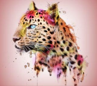 Обои на телефон фрактал, тигр, рисунки, арт, абстрактные, art