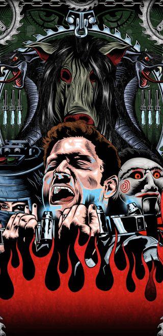 Обои на телефон киллер, фильмы, ужасы, новый, serial, saw, jigsaw, hd, 929