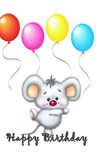 Обои на телефон маус, счастливые, день рождения, абстрактные, happy, baloon