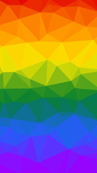 Обои на телефон цветные, треугольники, случайные, радуга, лгбт, геометрические, абстрактные, origami, lgbt rainbow