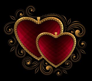 Обои на телефон элегантные, сердце, роскошные, металл, любовь, золотые, luxury, love, elegant hearts