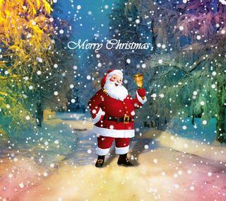 Обои на телефон санта, рождество, праздник, зима, дорога, winter road santa 2