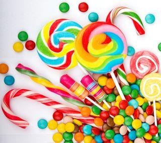 Обои на телефон конфеты, милые, красочные, candies