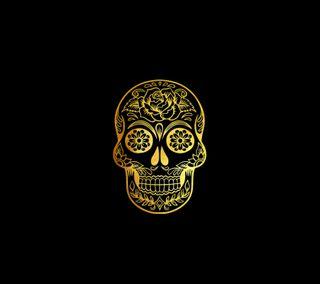 Обои на телефон череп, стиль, любовь, крутые, золотые, love, gold skull   dr, dr