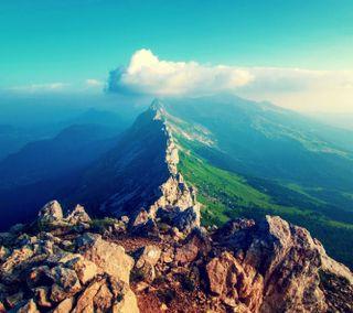 Обои на телефон камни, облака, небо, горы