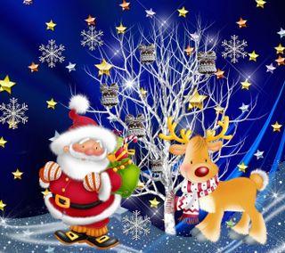 Обои на телефон счастливое, санта, рождество, зима, дерево, 2160x1920px