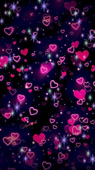 Обои на телефон пузыри, фиолетовые, темные, сердце, розовые, красые, whatsapp