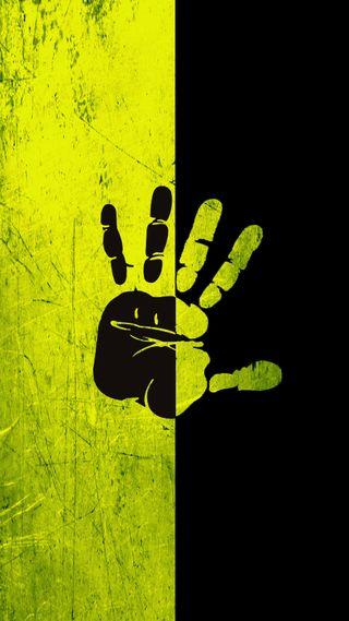 Обои на телефон желтые, черные, темные, рука, cr7