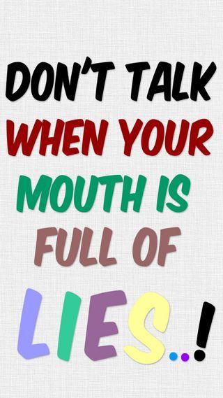 Обои на телефон цитата, текст, твой, рот, поговорка, не, ложь, знаки, беседа, full