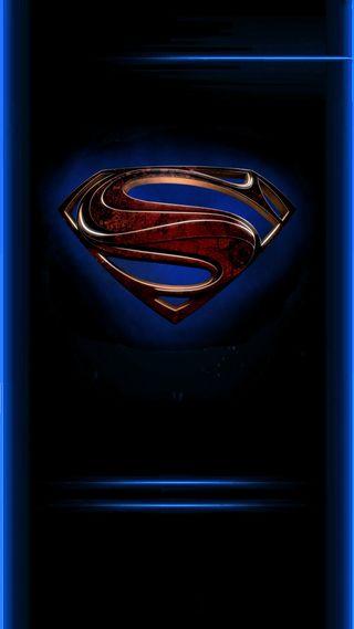 Обои на телефон супермен, стальные, комиксы, герой, грани, man of steel edge