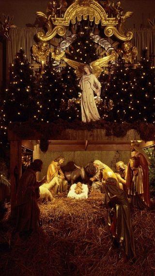Обои на телефон исус, рождество