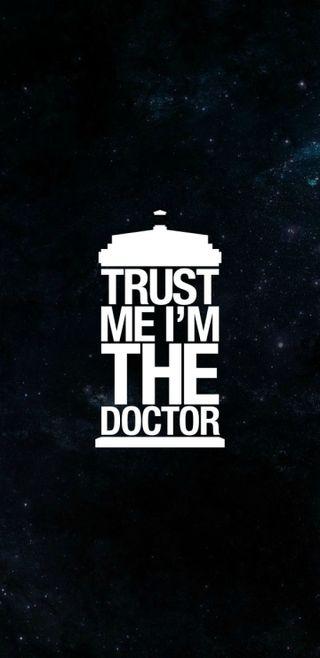 Обои на телефон тардис, кто, доктор, доверять, я, trust me