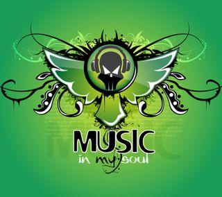 Обои на телефон душа, музыка, зеленые, дизайн, арт, music soul green, art