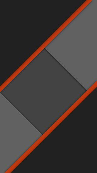 Обои на телефон элегантные, формы, темные, серые, простые, плоские, оранжевые, материал, dark o material flat