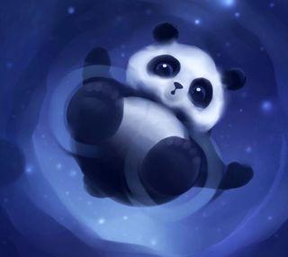 Обои на телефон панда, галактика, galaxy