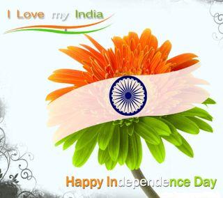 Обои на телефон индия, цветы, флаг, независимость, любовь, день, love