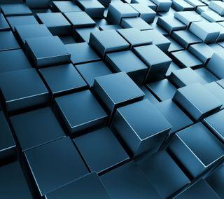 Обои на телефон геометрия, кубы, блоки, 3д, 3d