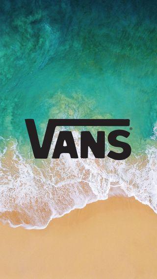 Обои на телефон пляж, океан, логотипы, бренды, vans