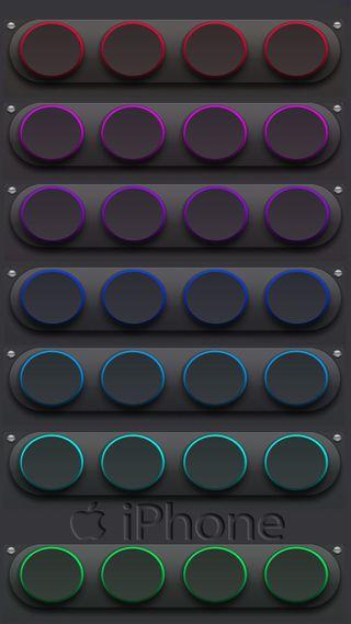 Обои на телефон цвета, логотипы, дизайн, айфон, абстрактные, iphone, buttons