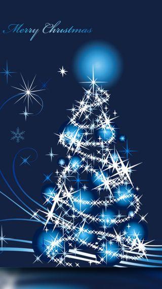 Обои на телефон праздник, синие, рождество