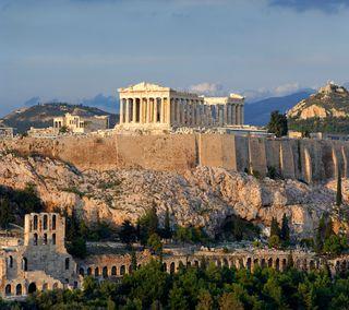 Обои на телефон храм, древний, греческий, греция, athens