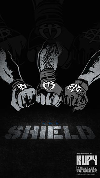 Обои на телефон щит, wwe the shield, wwe, the shield