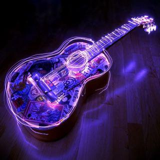 Обои на телефон гитара, абстрактные, guitar 3d, 3д