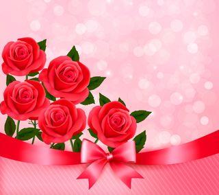 Обои на телефон лук, романтика, розы, любовь, красые, векторные, валентинка, абстрактные, love