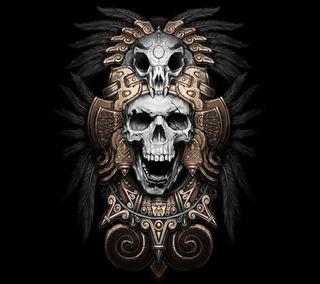 Обои на телефон череп, дизайн, zedgemx, azteca, aztec