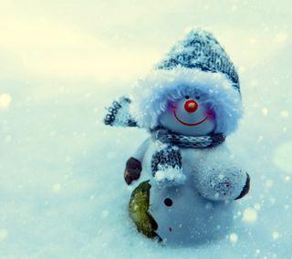 Обои на телефон счастливое, снеговик, рождество, милые, зима