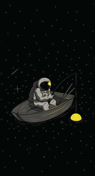 Обои на телефон стена, небо, природа, луна, moon man, man