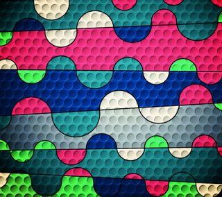 Обои на телефон мозаика, фон, красочные, абстрактные