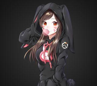 Обои на телефон игровые, аниме, dva overwatch, anime overwatch