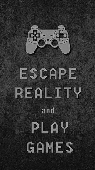 Обои на телефон реальность, пс3, игра, геймер, игры, жизнь, playstation, escape