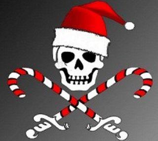Обои на телефон пираты, рождество, christmas jolly rog