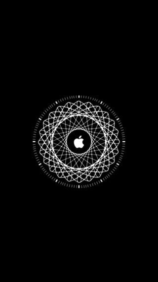 Обои на телефон часы, эпл, черные, ткани, apple