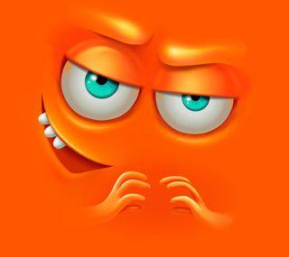 Обои на телефон лицо, оранжевые, зло, expecting