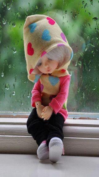 Обои на телефон маленький, кукла, грустные, little sadness