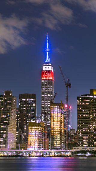Обои на телефон сша, нью йорк, манхэттен, империя, городской пейзаж, город, usa, tributeinlight, empire state buildin, canon